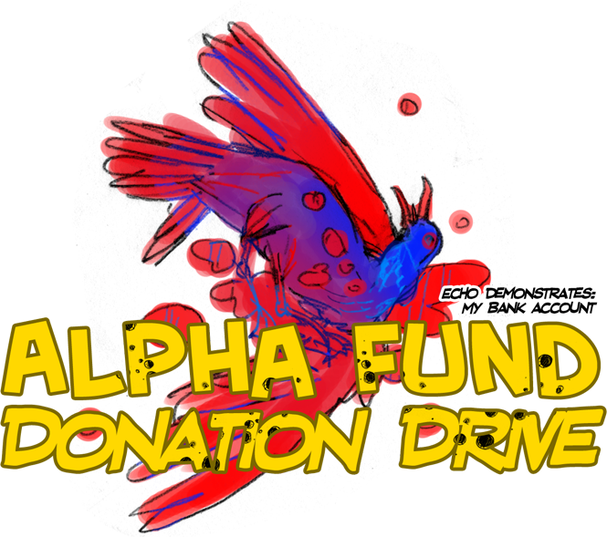 Alpha Fund Donation Drive Header